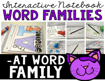 Word Family Interactive Notebook (-AT Family)