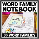 Word Family Activities for Interactive Notebooks