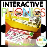 Word Family Interactive Phonics Mats Distance Learning