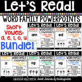 Word Family Interactive Powerpoints- BUNDLE {Let's Read Po