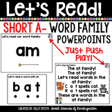 Word Family CVC Blending Powerpoints- Short A  Distance Learning