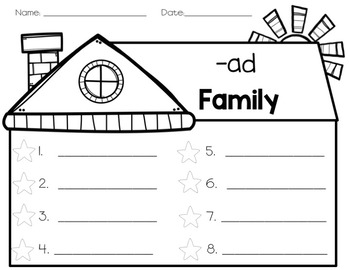 Word Family Journal Pages: cvc and cvce words