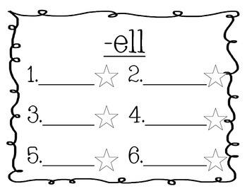 Word Family Journal - Short E