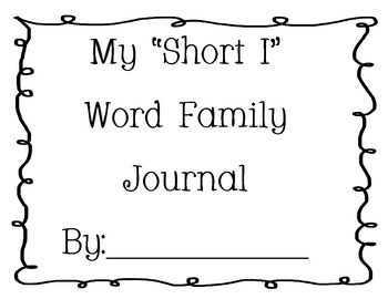 Word Family Journal - Short I