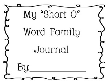 Word Family Journal - Short O
