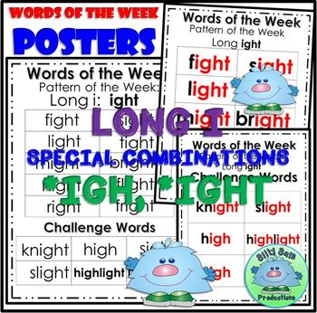 Word Family LONG I IGH IGHT WORD WORK PRINTABLES ASSESSMENTS