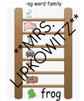 Word Family Ladder Activity- Editable