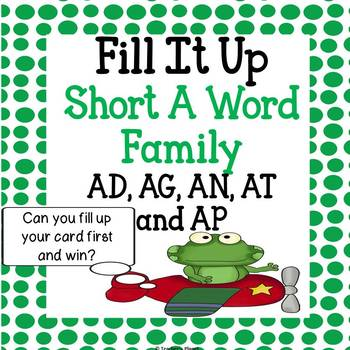 Reading Games -  Short A Word Family Fill it Up