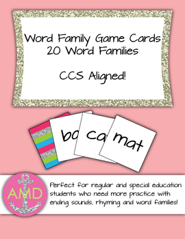 Word Family Learning Center- CCSS Aligned Regular and Special Education