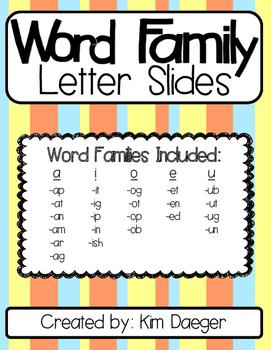 Word Family Letter Slides