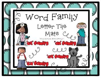 Word Family Letter Tile Mats