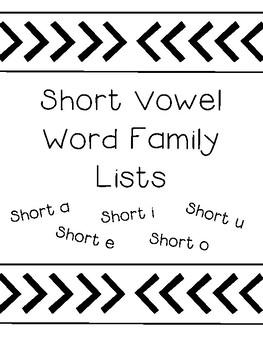 Word Family List