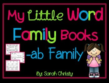 Word Family Little Book -ab Word Family