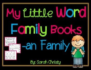 Word Family Little Book -an Word Family