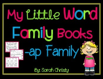 Word Family Little Book -ap Word Family
