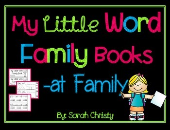Word Family Little Book -at Word Family