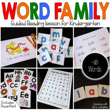 Word Family Guided Reading: The Lab and the Crab
