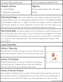 Word Family Guided Reading: Nat and the Cat