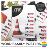 Word Family Long Vowel Sound Posters