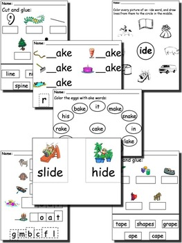 Word Family Long Vowel Unit
