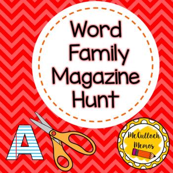 Word Family Magazine Hunt