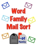 Word Family Mailbox Sort Literacy Activity