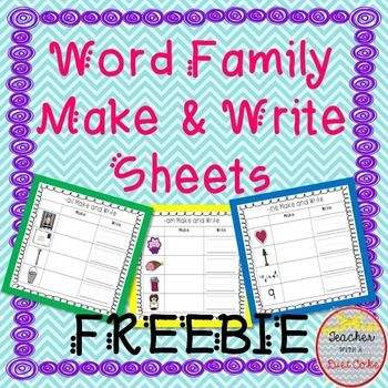 Word Family Make & Write Sheets-- FREE
