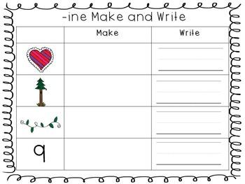 Word Family Make & Write Sheets