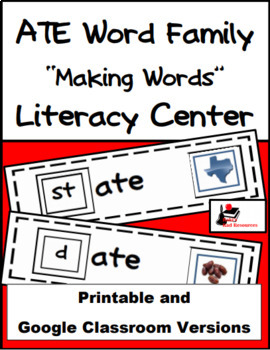 Word Family Making Words Literacy Center - ATE Family