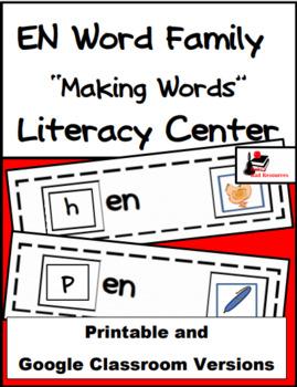 Word Family Making Words Literacy Center - EN Family