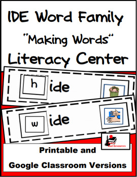 Word Family Making Words Literacy Center - IDE Family