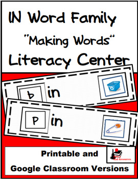 Word Family Making Words LIteracy Center - IN Family