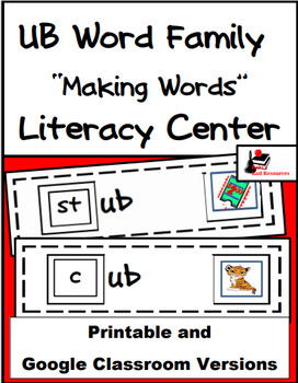 Word Family Making Words Literacy Center - UB Family