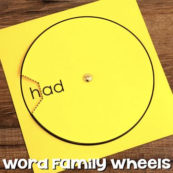 Word Family Wheel & Making Words Wheels {Short Vowels, Blends & Digraphs}