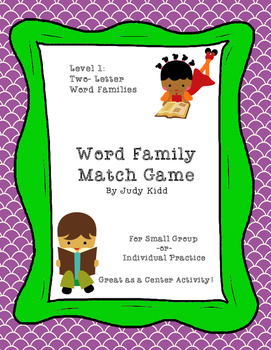 Word Family Match Game Level 1