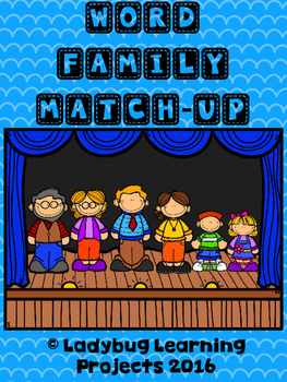 Word Family Match-Up Practice Sheets