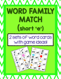 Word Family Matching Game Cards (Short e)