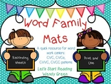 Word Family Mats
