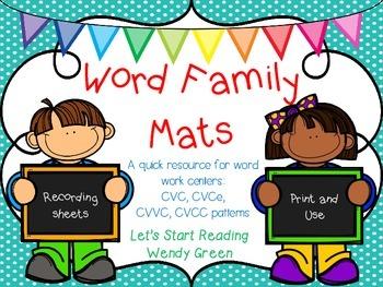 Word Family Mats