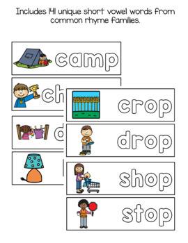 Word Family Mats Bundle: CVC & Short Vowels