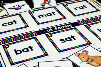 Word Family Mats {CVC Word Edition}