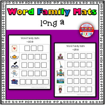 Word Family Activity: Build-a-Word Mats: Long A Version