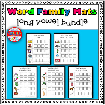 Word Family Activity: Build-a-Word Mats: Long Vowel