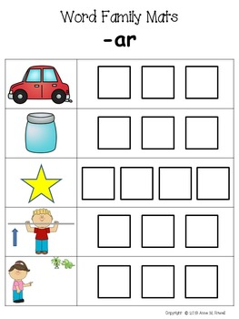 Word Family Activity: Build-a-Word Mats - Short A Version