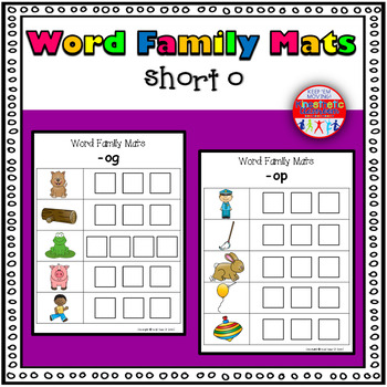 Word Family Activity: Build-a-Word Mats: Short O Version