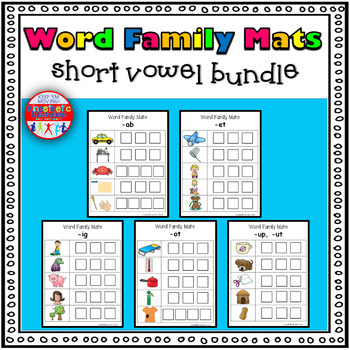 Word Family Activity: Build-a-Word Mats: Short Vowel Bundle