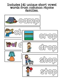 Word Family Short Vowel Mats