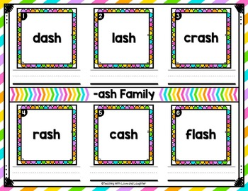 Word Family Mats {Short Vowels Edition}