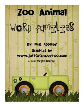 Word Family Mats- Zoo Animals