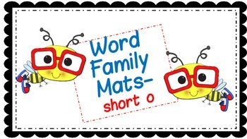 Word Family Mats - short o